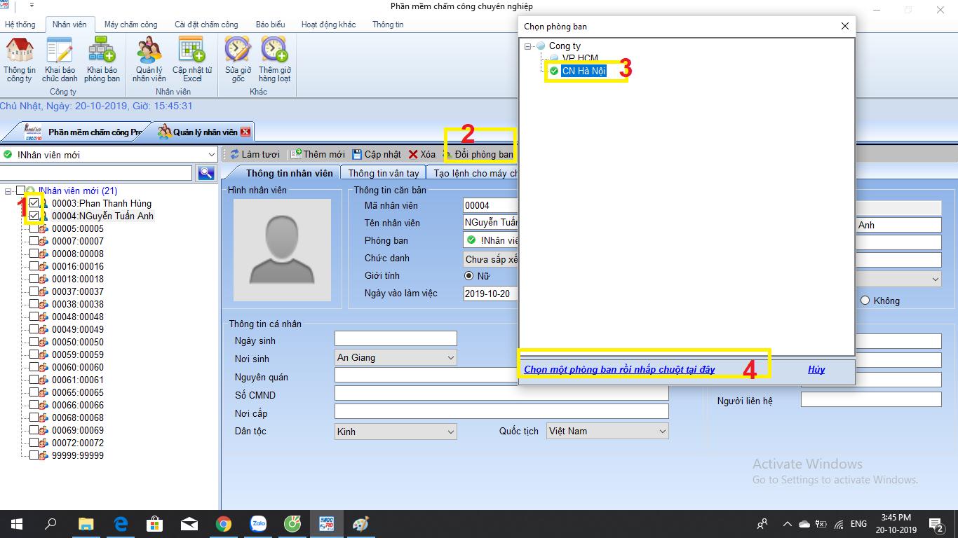 hướng dẫn sử dụng phần mềm chấm công ronald jack pro